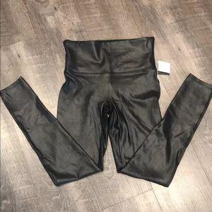 Spanx vegan leather leggings